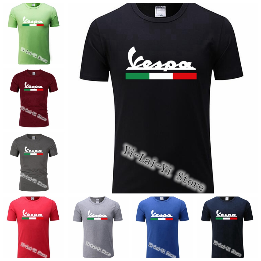 Brand Men Classic T Shirt Men's Women's Vespa Print T-Shirt Motorcycle Casual Men TShirt Man TShirts XS-XXXL