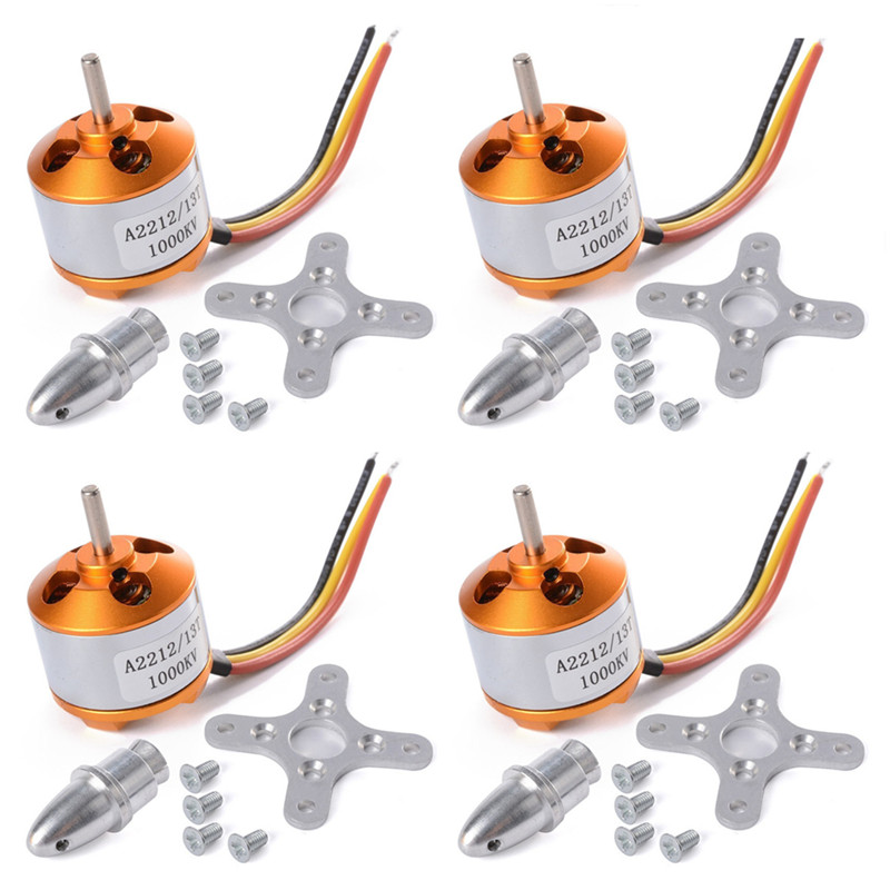4x A2212 1000Kv Brushless Outrunner Motor For Airplane Aircraft F450 F550 X525 Quadcopter  цены
