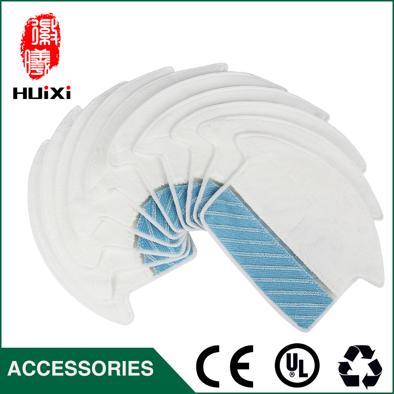 10pcs White and Blue Mop Cloth Replacement Washable Dishrag for Cleaner Accessories for 800-EG 810 830 CEN82 Vacuum Cleaner