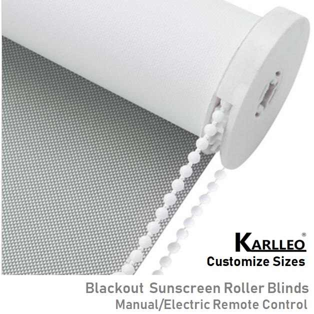 North America Blackout Sunscren Roller Blinds Curtain Manual/Motorized Remote Control Customize Size