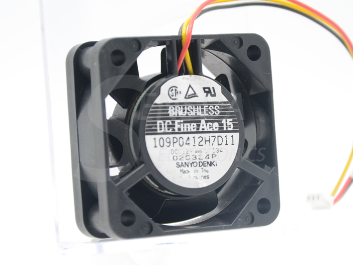 Sanyo 109P0412H7D11 40*40*15mm 4015 40mm DC 12V 0.13A TV set axial cooling fan