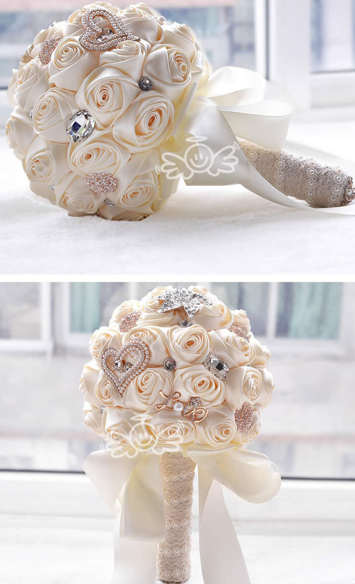 Aliexpress buy in stock stunning wedding flowers white aliexpress buy in stock stunning wedding flowers white bridesmaid bridal bouquets artificial rose wedding bouquet from reliable bridal bouquet izmirmasajfo