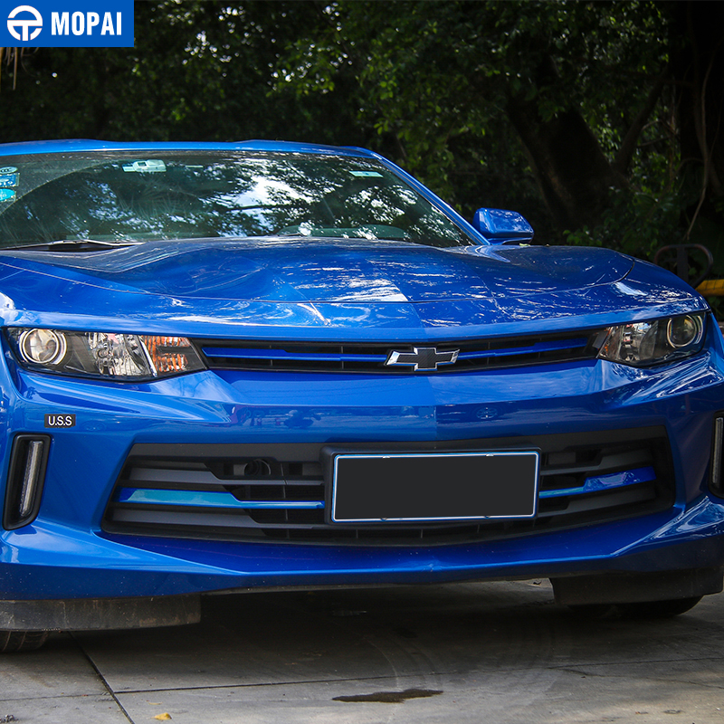 Image 3 - MOPAI Car Exterior Front Grille Cover Decoration Trim ABS Stickers for Chevrolet Camaro 2017 Up Car Accessories Styling-in Chromium Styling from Automobiles & Motorcycles