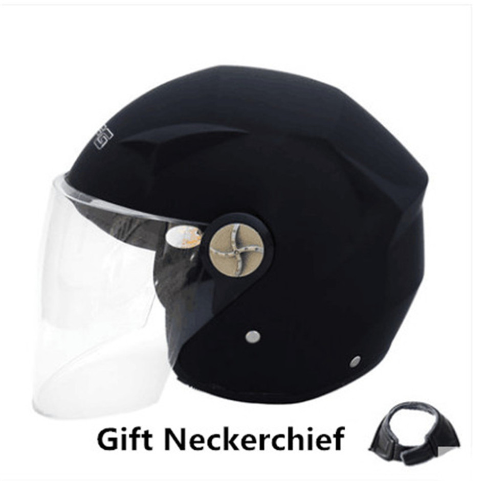Black Safety Helmet Hard Keep Warm Open Face Detachable Off Road Protect Helmets Motorcycle Cycling Winproof Helmet
