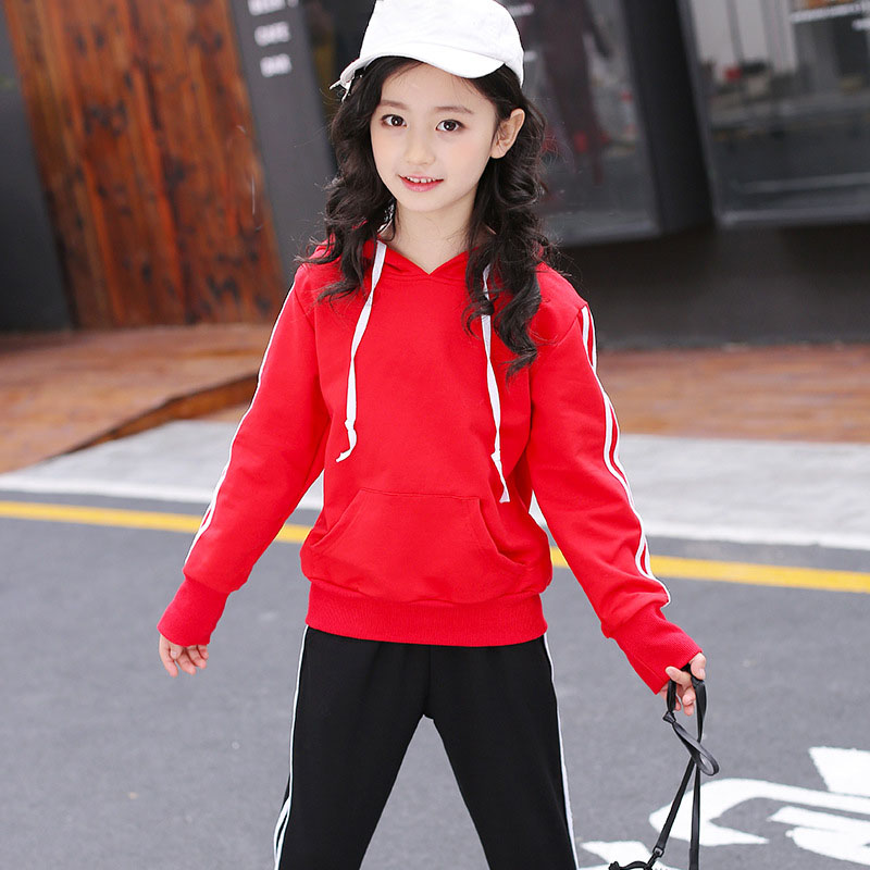 kids casual sport suits for girls 2 pcs sets clothes hooded coats and pants children clothing set sweatshirts for teens girls