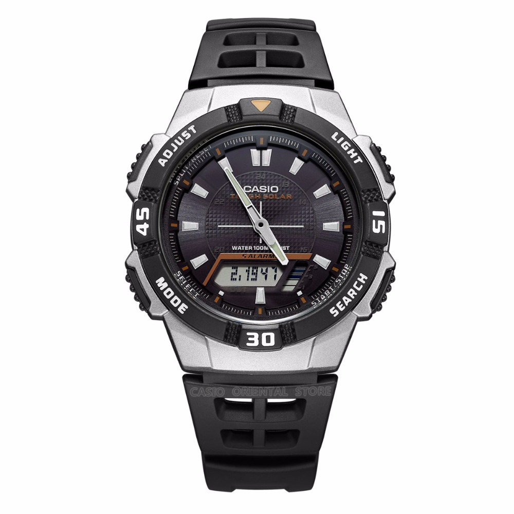 ФОТО CASIO Watch Dual Display Wrist Watch Men AQ-S800W Waterproof Watch Relogio Masculino Clock Male Gift Fashion