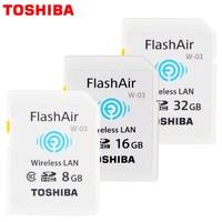 100 Original Toshiba WIFI SD Card Shared Memory SD Card 32GB Class 10 SDHC Flash Memory