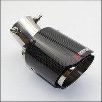 자동차 스타일링 광택 + 스테인레스 스틸 AK Akrapovic 배기관 조정 45도 머플러 유니버셜 카본 배기 팁
