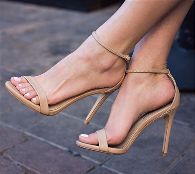 b4d478bff74 Women Sexy Sandals Ankle Strappy High Heels Sandals Sexy Ladies Stiletto  Women Wedding Party Shoes Pumps Summer Shoes women