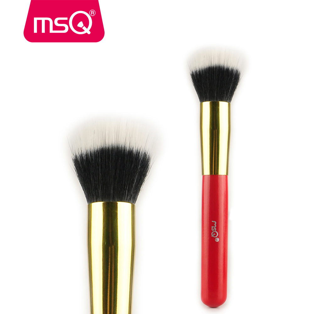 MSQ Professional Makeup Brush Powder Foundation Make up Brush Goat Hair Stippling For Fashion Beauty Cosmetic Beauty Tools мягкие игрушки gulliver ежик