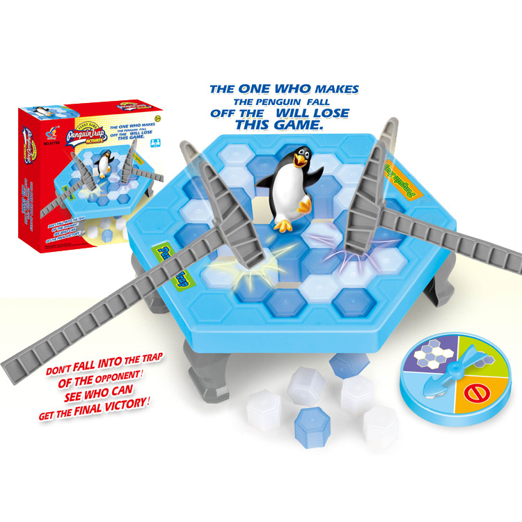 Ice Breaking Save The Penguin Great Family Fun Game Educational Learning Construction Developmental Toy Montessori Toy