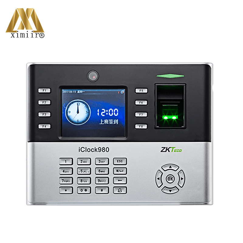 Good Quality Biometric Fingerprint Time Attendance Iclock980 With TCP/IP Door Access Control System Time Clock