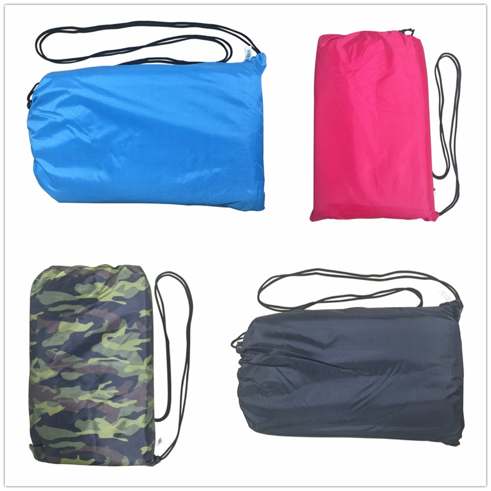 Lazy bag hangout inflatable air sofa lounger hammock Compression pouch laybag for one people adult Sleeping bag ...