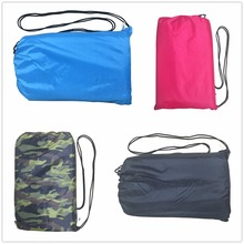 Lazy bag hangout inflatable air sofa lounger hammock Compression pouch laybag for one people adult Sleeping bag