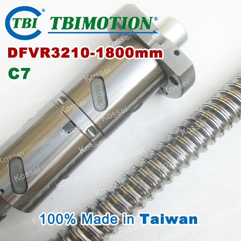 TBI 3210 C7 1800mm ball screw 10mm lead with DFV3210 ballnut of DFV set end machined for high precision CNC diy kit tbi 1605 c3 400mm ball screw 5mm lead with sfu1605 ballnut ground for high precision cnc diy kit of taiwan