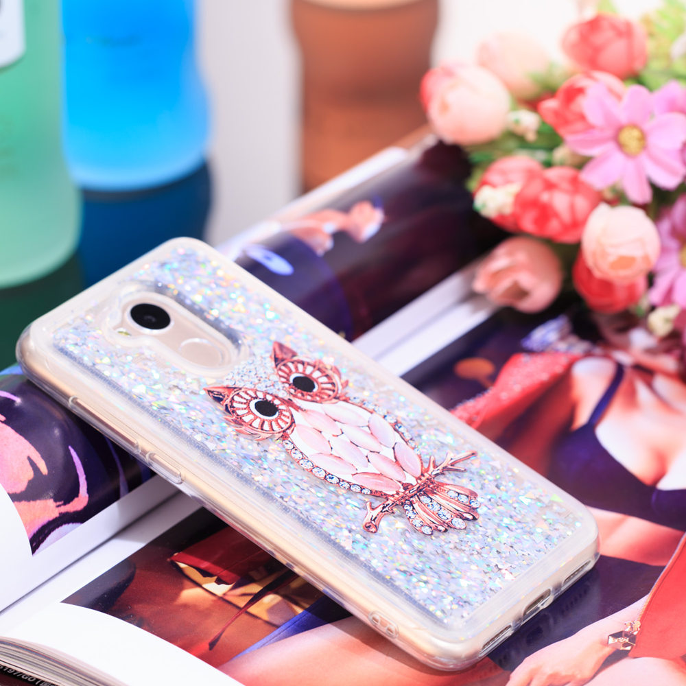 Phone Bags & Cases For Huawei Honor 6a Cute Glitter Case Dli-tl20 Bling Liquid Quicksand Soft Tpu Full Cover Honor6a Dli-l22 Dli Tl20 Fitted Cases Fitted Cases