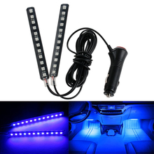 цена на 2 Pcs Car Interior 12 LED Strip Lights Floor Car Styling Decorative Atmosphere Floor Lamps Car Interior Lamp Decorative Lights