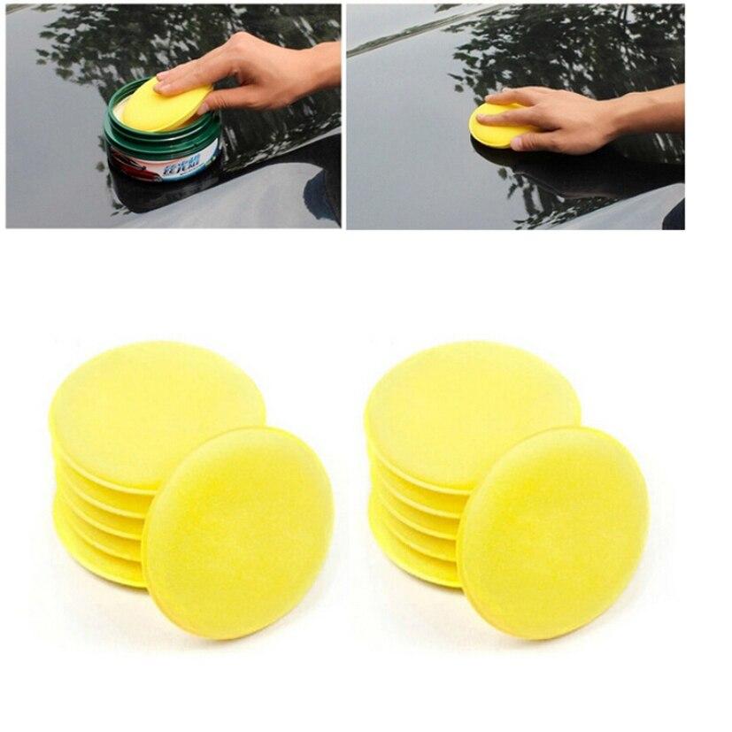 New Arrival 12X Foam Sponge Waxing Applicator Pad CARS Vehicle Glass Cleaning