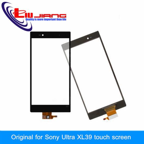 Lente De Vidro Exterior Original Para Sony Xperia Z Ultra XL39h XL39 tela sensível ao toque com digitador + Vidro film presente frete grátis preto