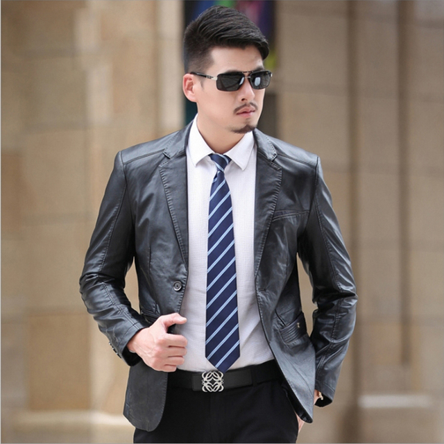 2017 Winter Sheep Skin Suit Leather Jacket Men Fashion Mens Leather Jackets And Coats Jaqueta De