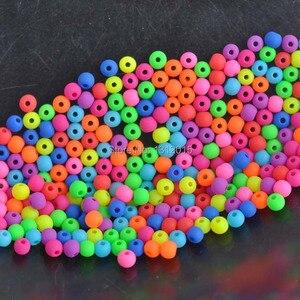 Contas espaçadoras de sementes de acrílico, 500 peças 4mm misturado, fosco, neon, para fazer jóias diy YKL0219-4X