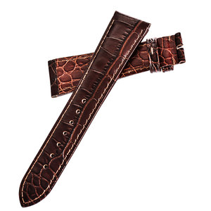 Image 4 - Reef Tiger/RT High Quality 22mm Genuine Calfskin Leather Strap with Deployment Buckle Durable Watch Band for Men