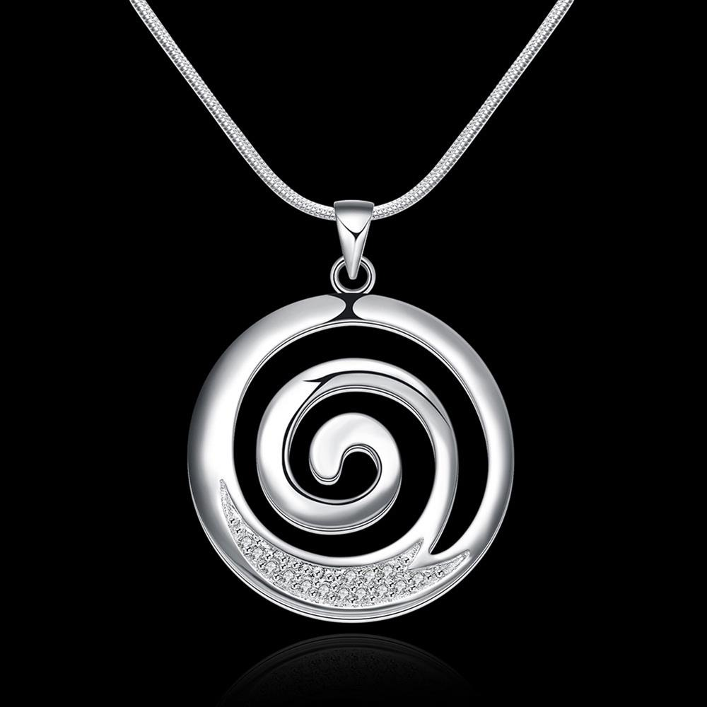 N540 hot sale fashion silver plated aaa zircon round spiral pendant n540 hot sale fashion silver plated aaa zircon round spiral pendant necklacefashion silver 925 jewelry necklace for women in pendant necklaces from jewelry aloadofball Images