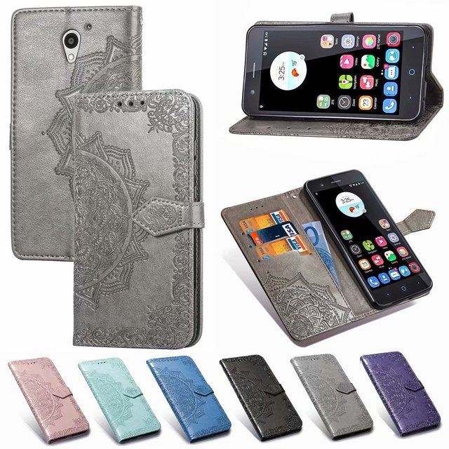 For ZTE Blade A510 A610 V7 Lite L5 Plus Mandala Pattern Leather Flip Wallet Card Holder Stand Case Cover