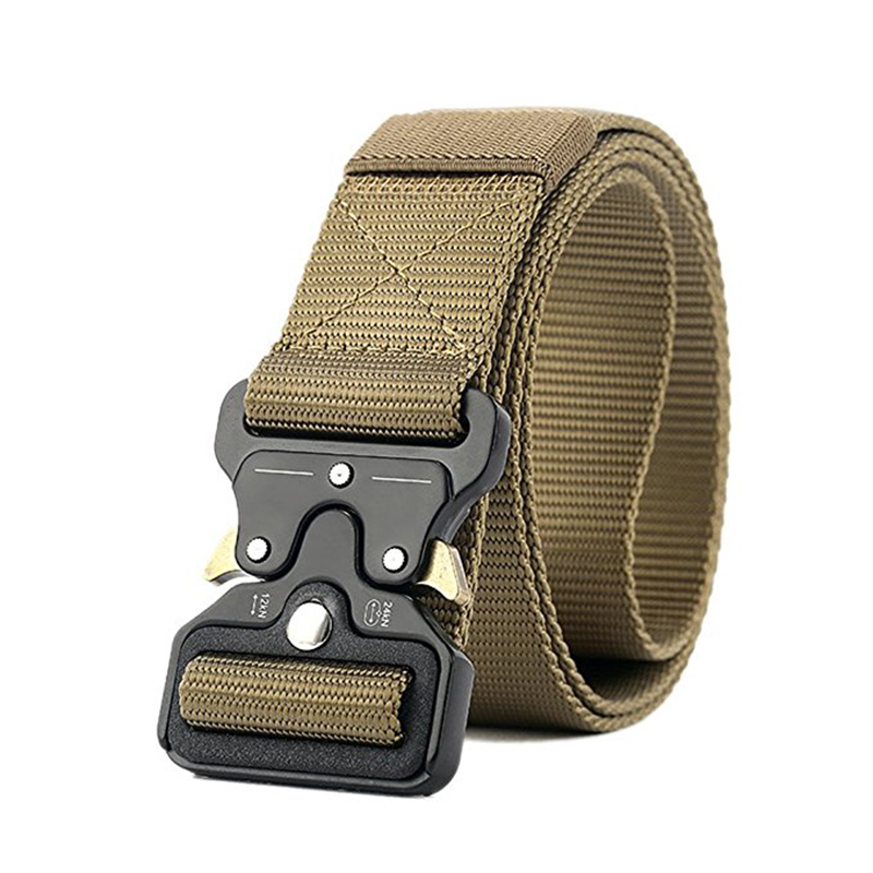 Tactical Outdoor Heavy Duty Rigger Military Belt with Quick-Release Metal Buckle