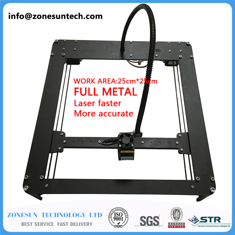 FULL METAL New Listing 2500mw Mini DIY Laser Engraving Engraver Machine Laser Printer Marking Machine,laser fasrer,more accurate