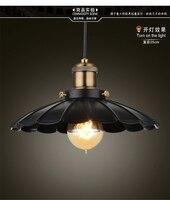 Pendant Light For Kitchen Antique Lamp Lights Vintage Black Lighting Iron Lamps Country Dia 25/35Cm E26/E27/110V/220V