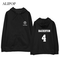 ALIPOP Kpop EXO 4th Concert Member Album Hoodie Casual Cotton Hoodies With Hat Pullover Printed Long