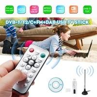 LEORY USB 2.0 DVB T/DVB T2 TV receiver tuner DVB T/C/T2+FM+DAB HDTV Stereo dual channel sound Hi Speed