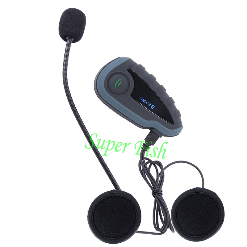 Image 3 - 100%Original Brand Vnetphone V8 1200M Bluetooth Intercom Motorcycle Helmet Interphone Headset NFC Remote Control Full Duplex +FM-in Helmet Headsets from Automobiles & Motorcycles