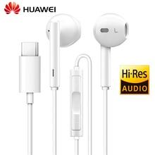 Originele Huawei Honor Type C Hi Res Audio Oortelefoon Met Controller Voor Huawei Mate 10 Pro P20 Pro Headset sport EarphoneCM33 H30