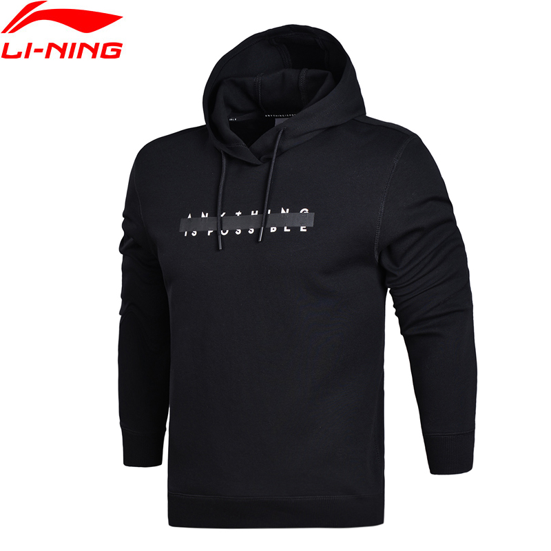 Li-Ning Men The Trend PO Knit Hoodie Sweater Regular Fit Comfort Fitness LiNing Sports Hooded Sweater AWDN059 MWW1371