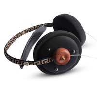 HiFi Stereo Wooden DIY Music Headphone 57mm Speaker Noise Canceling Headset with 3.5mm Silver Plated Cables for IPhone Xiaomi