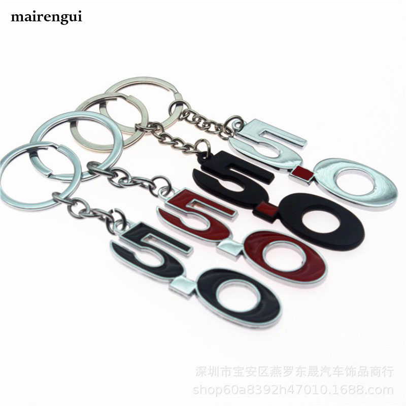Personalized key chain car key ring for <font><b>Ford</b></font> focus mondeo <font><b>st</b></font> Mustang 5.0 accessories metal keychain letter men pendant <font><b>keyring</b></font> image