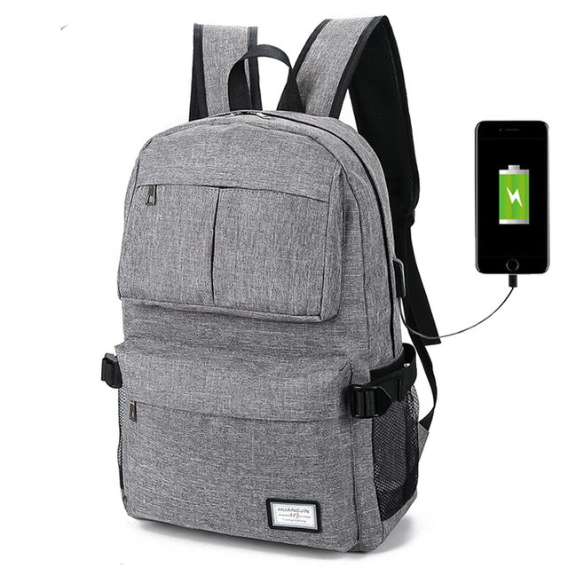 New USB Unisex Design Backpack Book Bags For School Casual Rucksack Daypack Oxford Canvas Laptop