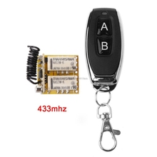 RF 2 Relay 433 Receiver Wireless Remote Control Learning DC 3.7V to 24V Micro Switch NO COM NC Transmitter