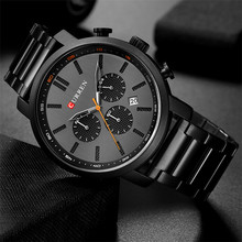 CURREN Men Chronograph Watches for Gifts Top Brand Luxury Fa