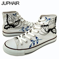 JUP Shoes Men's Female Anime Comic Figure High Butterfly Graffiti Hand-painted Shoes Zapatos Mujer Summer  Rubber Boots For Max