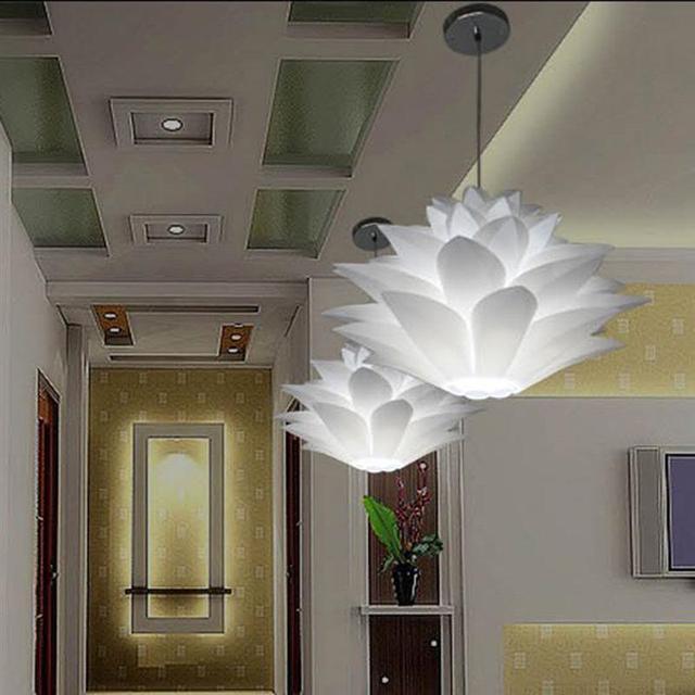 50CM Creative DIY Chandelier Lotus PP Pendant Ceiling Room Decoration Puzzle Lights Modern Lamp For Home Decoration