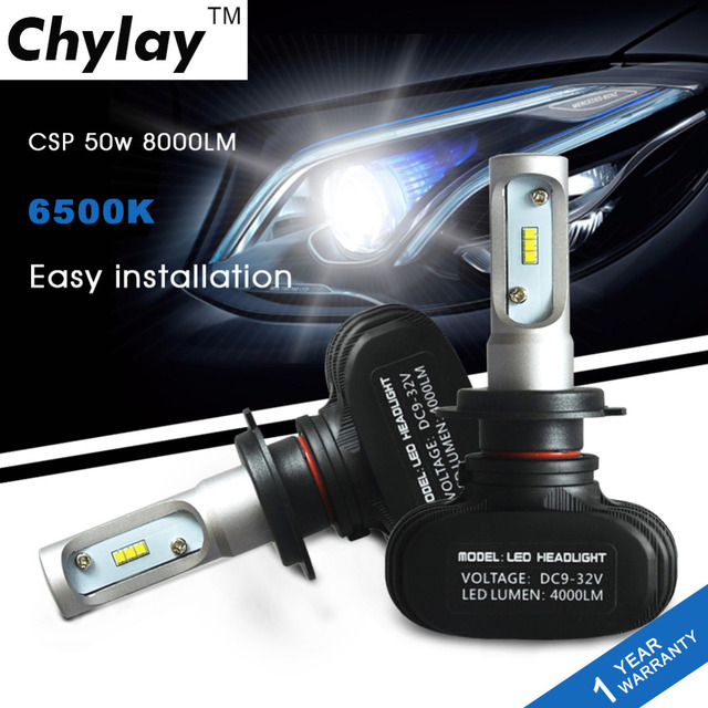 One Set  H7 Led Headlight bulb 50W 8000LM Automobile headLamp bulb Fog Light White 6500K Car Lighting