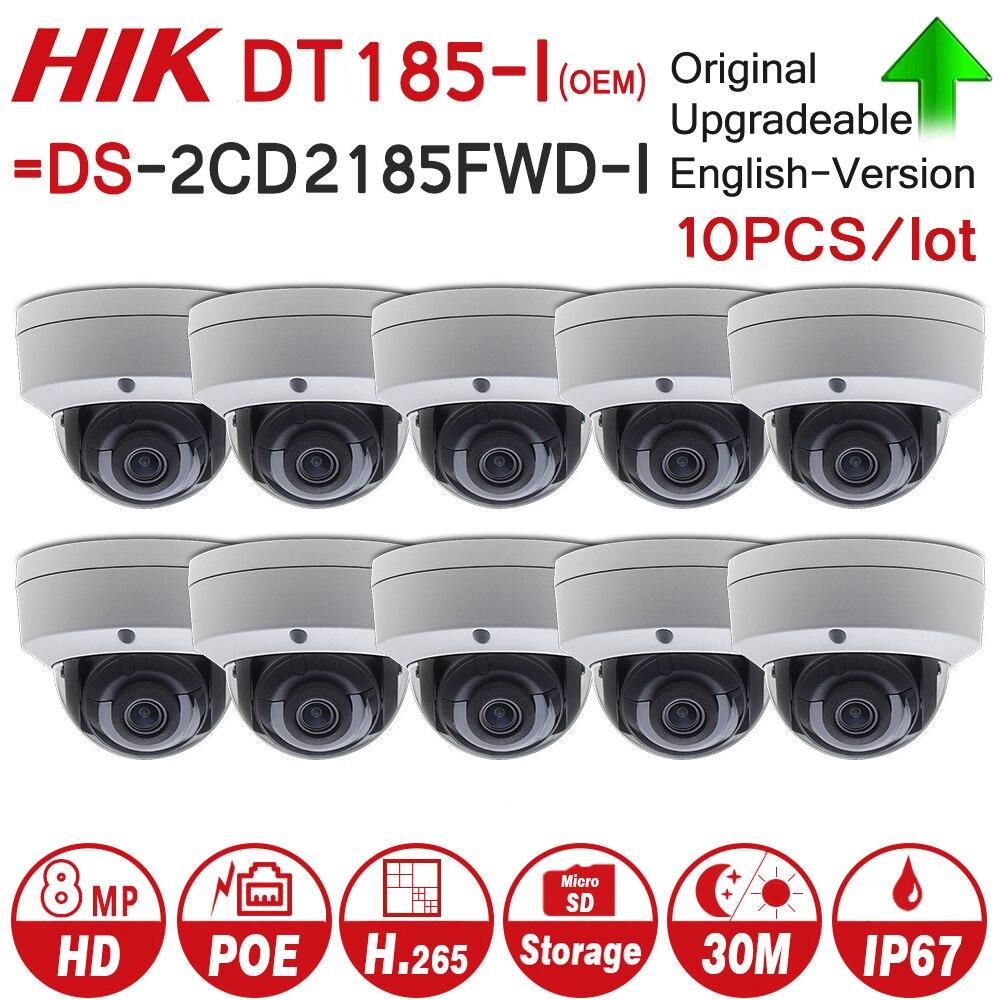 Hikvision OEM IP Caméra DT185-I = DS-2CD2185FWD-I 8MP Réseau Dôme POE IP Caméra H.265 CCTV Caméra SD Fente Pour Carte 10 pcs/lot