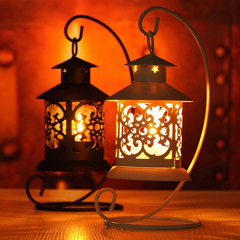 Iron Maroccan Style Candleestick Candleholder Candle Stand Light Holder European Style Home Decor Lantern T35