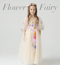 Beautiful faery girls princess dress children bitter fleabane bitter Halloween show the dress Pageant Flower dress