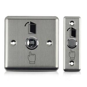 Image 4 - Botón de salida de acero inoxidable, interruptor pulsador, Sensor de puerta, liberación de apertura para bloqueo magnético, Control de acceso, protección de seguridad del hogar