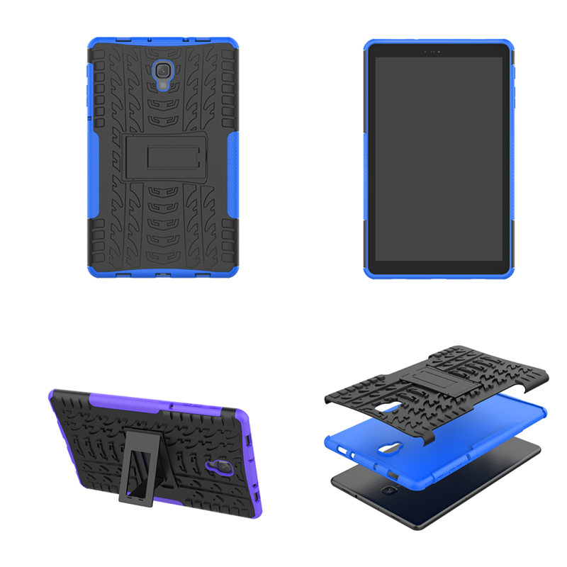 Hybrid Stand TPU PC Rubber Armor KIds <font><b>Case</b></font> Anti-knock Cover For Samsung Galaxy Tab A 10.5 inch 2018 <font><b>SM</b></font> <font><b>T590</b></font> T595 Tablet <font><b>Cases</b></font> image