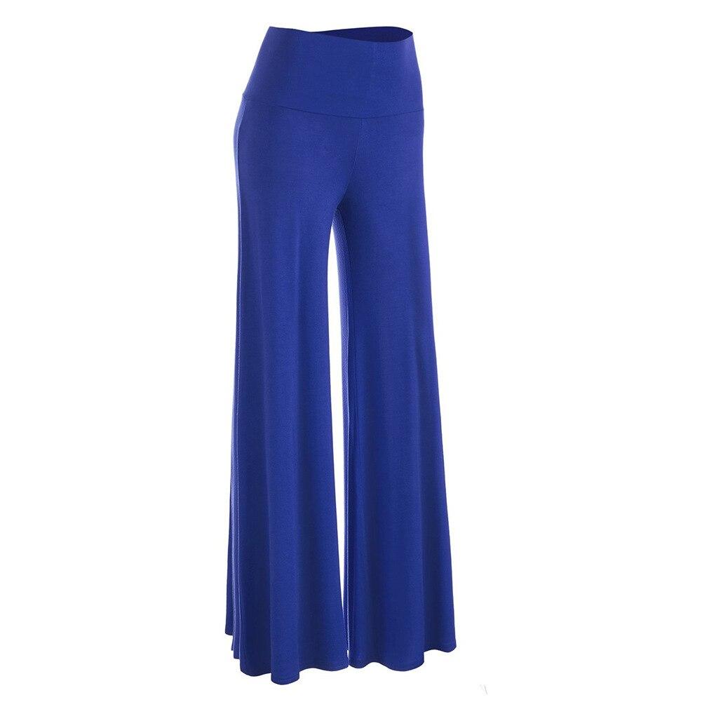 Women High Waist Casual Palazzo Pants Women Black Slim Flare Career OL Loose Wide Leg Pant Long Trousers Pantalones Plus Size